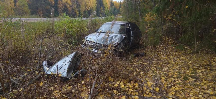 В Судиславском районе произошло ДТП с участием одного автомобиля