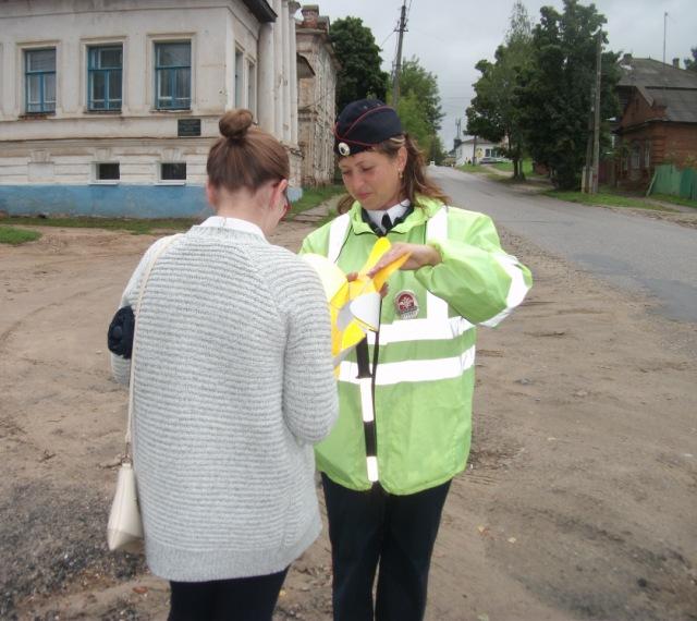 Целевую акцию  «Дорога-символ жизни» организовали дорожные полицейские из Судиславля во Всемирный день знаний