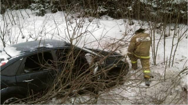 В Судиславском районе водитель «Ford Focus» съехал в кювет